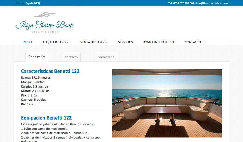 Artislas creazione logo e sito web ibiza charter boats for Logo sito web