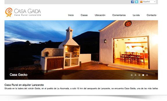 Diseño web Casa Gaida Lanzarote