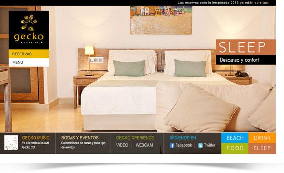 Diseño web Gecko Beach Club Formentera